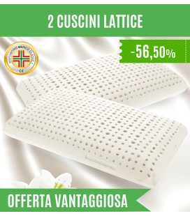 Offerta due Cuscini in Lattice Alti 14 cm
