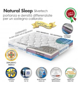 Materasso Natural Sleep Memory Matrimoniale