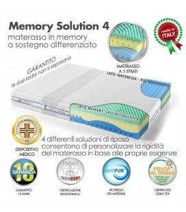 Materasso Memory Solution 4 Matrimoniale