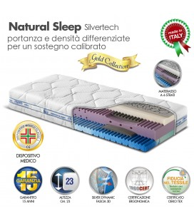 Materasso Natural Sleep Memory 7 Zone Singolo