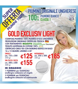 Piumino Gold Exclusiv Light