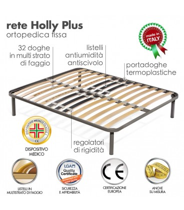 Rete Letto Matrimoniale Doghe.Rete Holly Plus Doghe Matrimoniale