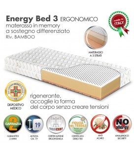 Materasso Memory Energy Bed 3 Singolo