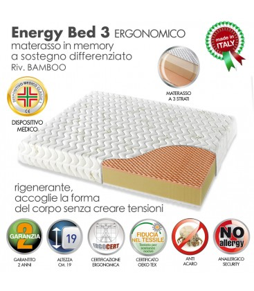 Materasso Memory Energy Bed 3 Matrimoniale