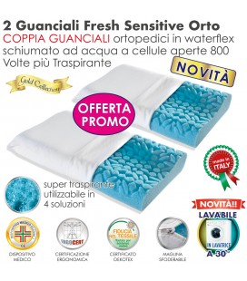 Coppia Cuscini Fresh Sensitive Orto