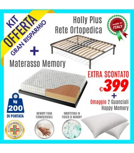 Kit Rete Holly Plus + Materasso Energy Bed 3 160x190