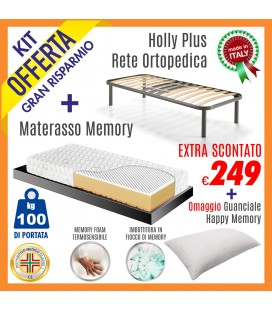 Kit Rete Holly Plus + Materasso Energy Bed 3 80x190
