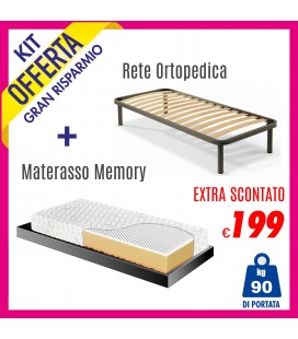 Kit Materasso Energy Bed 3 + Rete Iris 80x190
