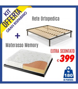 Kit Materasso Energy Bed 3 + Rete Iris 160x190