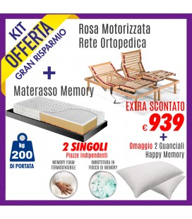 Kit Rete Rosa Motore + Materasso Energy Bed 3 160x190