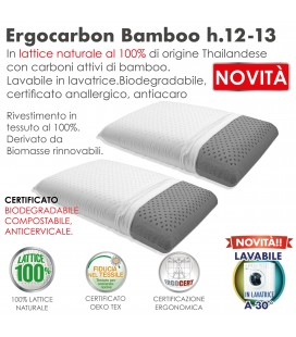Guanciale Lattice Ergonomico Ergo Carbon Coppia H12-13