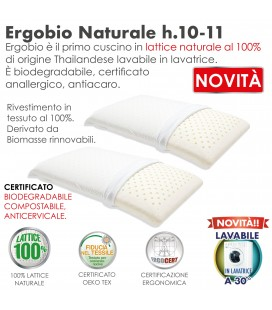 Coppia Guanciali Lattice Ergonomico Bio ErgoBio