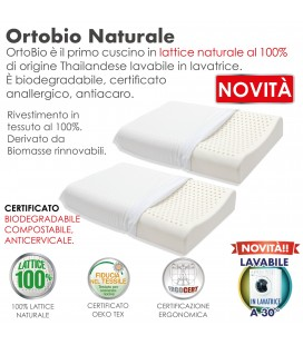 Coppia Guanciali Lattice Ortopedico Orto Bio Cervicale
