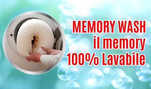 MEMORY WASH 100% lavabile
